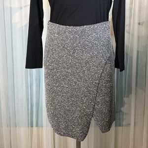 Topshop grey asymmetrical skirt